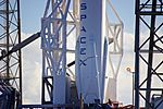 SpaceX CRS-9 Falcon 9 on pad (28472976416).jpg