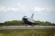Space shuttle Endeavour STS-118 landing