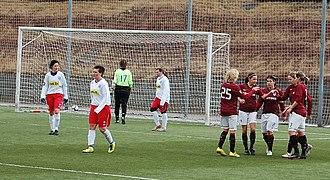 AC Sparta Praha (women) - Sparta celebrate a goal