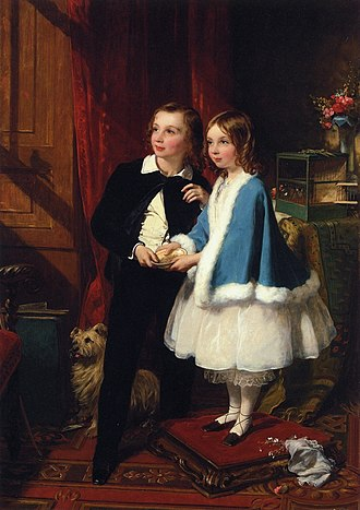 George Spencer-Churchill, 6th Duke of Marlborough - Lord Almeric and Lady Clementina, the children of the 6th Duke by his second wife, Charlotte Augusta Flower