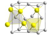 ZnS, Kristallstruktur von Sphalerit (kubisch)