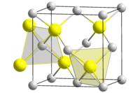 Struktur von Galliumantimonid