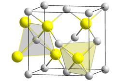 Kristallstruktur von Quecksilbertellurid