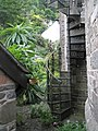 Spiral fire escape outside St John the Baptist, Lynmouth - geograph.org.uk - 936959.jpg