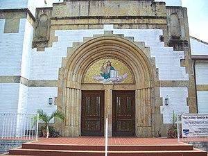 Saint Leo Abbey - Entrance to the abbey church on Saint Leo University campus