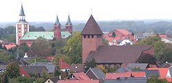 Churches of Saint Gertrud (left) and Saint Joseph (right)