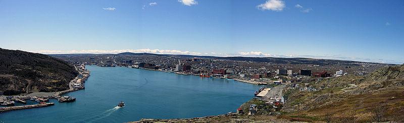 File:St. John's, NFLD harbour.jpg
