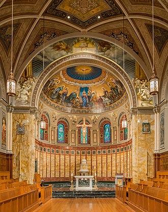 Saint John's Seminary (Massachusetts) - Image: St. John's Seminary Altar