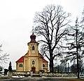 St. Martin and St. Margaret Church, Poreba Zegoty village, Chrzanów County, Lesser Poland Voivodeship, Poland.jpg