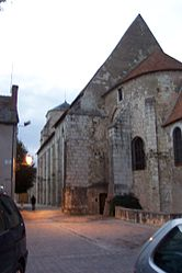 The collegiate church of Saint-Martin, in Léré