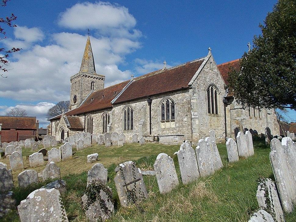 St Mary's Church, Brading, Isle of Wight, UK