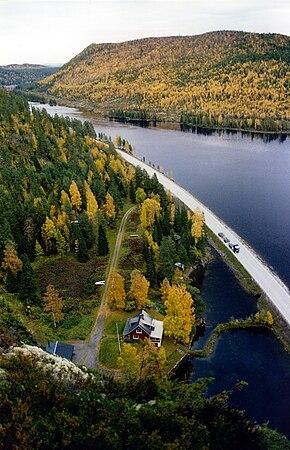 Indalsälven – Blick vom Stadsberget, Jämtlands län