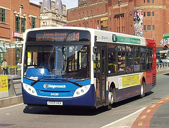Stagecoach Merseyside - An Alexander Dennis Enviro300 in Queen Square bus station