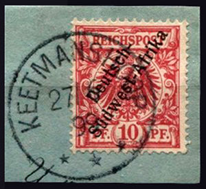 Keetmanshoop - Stamps for German South West Africa postmarked Keetmanshoop 1899