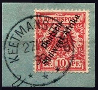 Keetmanshoop - Stamps for German South West Africa postmarked Keetmanshoop 1899