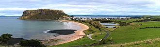 Stanley, Tasmania - Stanley and The Nut viewed from Highfield