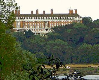 Richmond Hill, London - The former Royal Star and Garter Home for disabled ex-servicemen on top of the hill