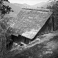 Stara lesena hiša, sedaj štala (hlev) (Golobova), Čeplez 1954.jpg
