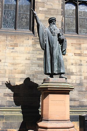 John Knox - Statue of John Knox in New College Edinburgh by John Hutchison