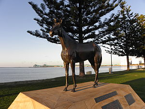 Port Lincoln - Statue of Makybe Diva at Port Lincoln, South Australia