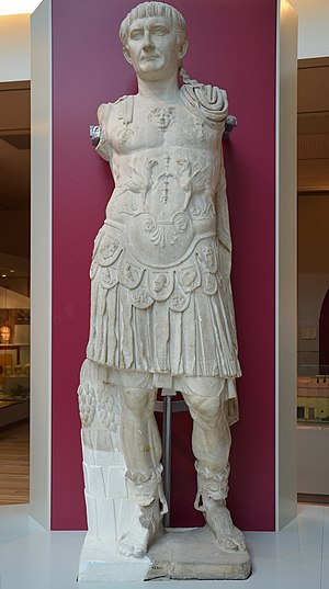 Utica, Tunisia - Statue of Trajan from Utica ruins