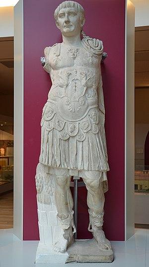 Utica, Tunisia - Statue of Trajan from Utica ruins