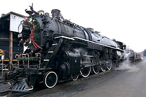 Spokane, Portland and Seattle Railway - Image: Steam locomotive in Vancouver, Washington a