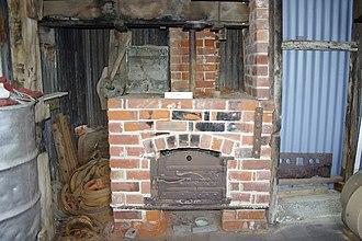 Steam bending - Steam box oven at historic Axel Stenross slipway, Port Lincoln, South Australia