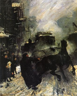 1908 in art - Image: Steaming Streets George Bellows 1908