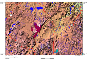 Steens Mountain - Image: Steens Mountain relief map