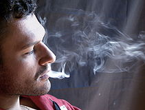 Stefano, smoking 3 - Foto Giovanni Dall'Orto, August 2007.jpg
