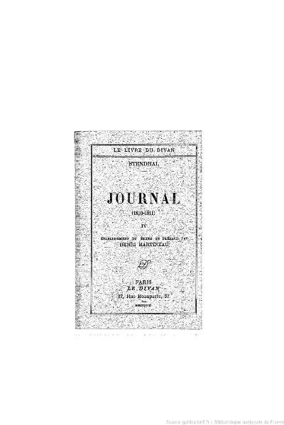 File:Stendhal - Journal, IV, 1937, éd. Martineau.djvu