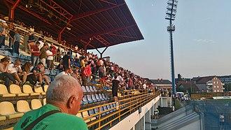 Stadion ŠRC Zaprešić - Image: Stepenice na istočnoj tribini