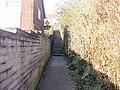 Steps at end of footpath, Home Farm, Caerleon - geograph.org.uk - 1754077.jpg