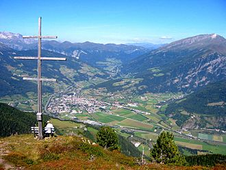 Wipptal - A view over Sterzing in September 2004.