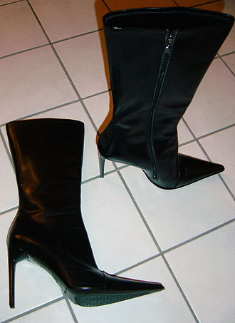 Stiletto heel - Stiletto heels can be found on almost every type of shoes, such as these ankle boots