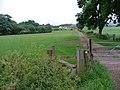 Stile and Public Footpath Waymark, Dunsdale Farm - geograph.org.uk - 22881.jpg