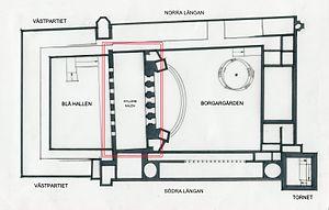 Golden Hall (Stockholm City Hall) - Floor plan of the Golden Hall