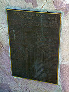 Stockton Colliery Plaque