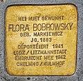 Stolperstein Flora Bobrowsky-Markiewicz Esch-Alzette, 49 rue Léon Weirich 01.jpg