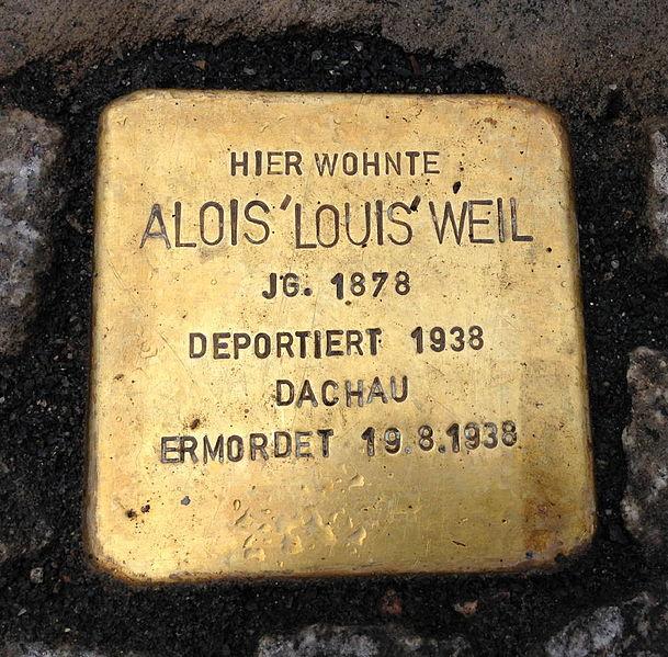File:Stolperstein Hohenems Louis Weil.jpg
