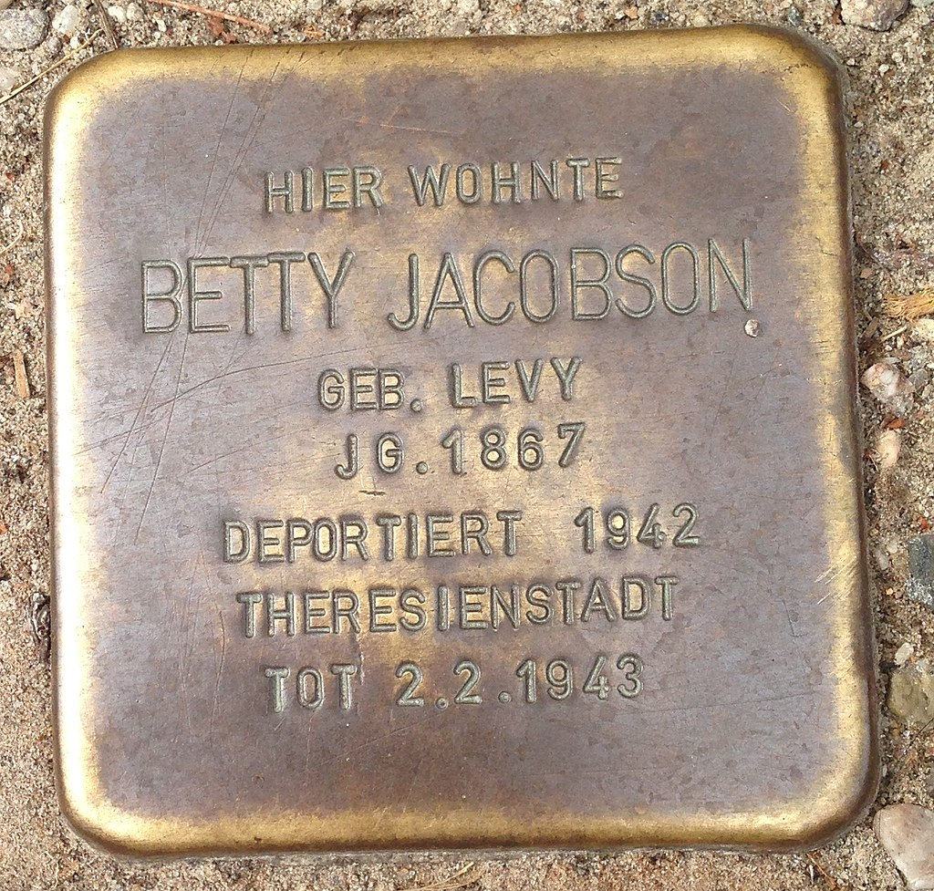 Stolperstein Malchow Güstrower Straße 60 Betty Jacobson