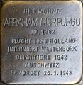 Stolperstein Salzburg, Abraham Morpurgo (Hans-Prodinger-Straße 19).jpg