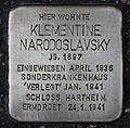 Stolperstein für Klementine Narodoslavsky.JPG