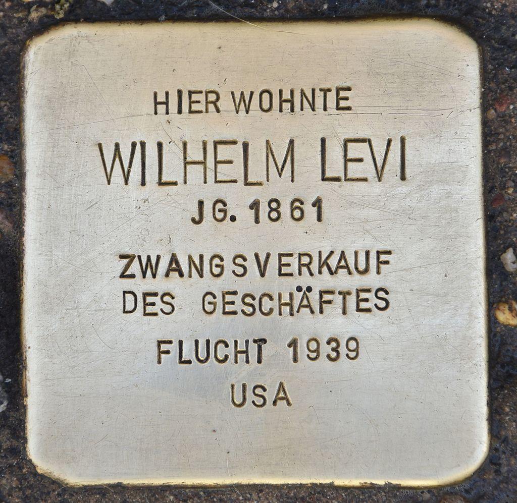 Stolperstein für Wilhelm Levi.jpg