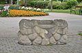 Stone bench, Rathauspark, Schwechat.jpg