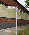 Straßenschild Clarissenstraße und Heesenstraße, Düsseldorf-Heerdt.jpg