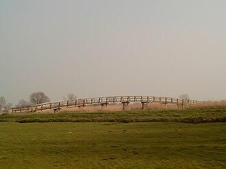 Molenwaard - Polder and cycling-bridge near Streefkerk