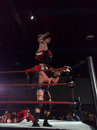 Jack Evans (wrestler) - Evans and Roderick Strong performing Ode to the Bulldogs on Scorpio Sky and Ronin.