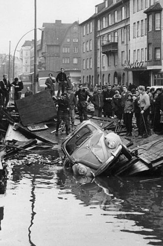 North Sea flood of 1962 - Hamburg-Wilhelmsburg in 1962